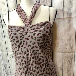 Diane Von Furstenburg Size 10 100% Silk cami/tank